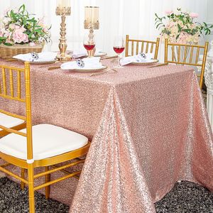 "90""x132""  Seamless Rectangular Sequin Taffeta Tablecloths (22 Colors)"