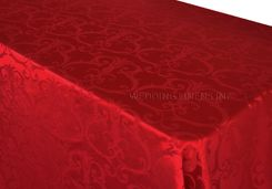 """90""""x132"""" Rectangle Versailles Chopin Damask Jacquard Polyester Tablecloths (14 colors)"""