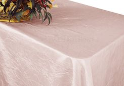 "90""x156"" Rectangle Crushed Taffeta Tablecloth - Blush Pink 61815(1pc/pk)"