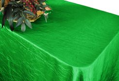 "90""x156"" Rectangle Crushed Taffeta Tablecloth - Emerald Green 61838 (1pc/pk)"