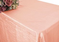 "90""x156"" Rectangle Crushed Taffeta Tablecloth - Peach / Apricot 61831 (1pc/pk)"