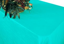 "90""x156"" Rectangle Crushed Taffeta Tablecloth - Pool Blue 61878(1pc/pk)"