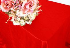 "90""x156"" Rectangle Crushed Taffeta Tablecloth - Red 61812 (1pc/pk)"