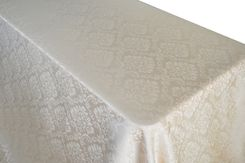 "90""x156"" Rectangle Marquis Damask Jacquard Polyester Tablecloths (12 colors)"