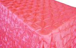 "90""x156"" Rectangle Pinchwheel Taffeta Tablecloth - Coral 66806(1pc/pk)"