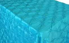 "90""x156"" Rectangle Pinchwheel Taffeta Tablecloth - Pool Blue 66878(1pc/pk)"