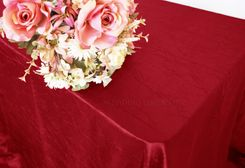 "90""x156"" Rectangle Crushed Taffeta Tablecloth - Apple Red 61808(1pc/pk)"