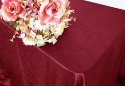 "90""x156"" Rectangle Crushed Taffeta Tablecloth - Burgundy 61810(1pc/pk)"