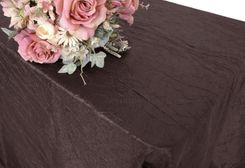 "90""x156"" Rectangle Crushed Taffeta Tablecloth - Chocolate 61891(1pc/pk)"