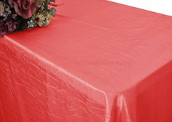 "90""x156"" Rectangle Crushed Taffeta Tablecloth - Coral 61806(1pc/pk)"