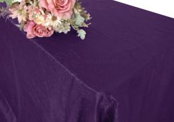 "90""x156"" Rectangle Crushed Taffeta Tablecloth - Eggplant 61845(1pc/pk)"
