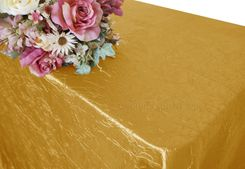 "90""x156"" Rectangle Crushed Taffeta Tablecloth - Gold 61827(1pc/pk)"