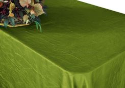 "90""x156"" Rectangle Crushed Taffeta Tablecloth - Moss Green 61817(1pc/pk)"