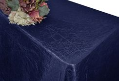 "90""x156"" Rectangle Crushed Taffeta Tablecloth - Navy Blue 61823(1pc/pk)"