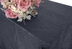 "90""x156"" Rectangle Crushed Taffeta Tablecloth - Pewter 61860(1pc/pk)"