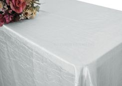 "90""x156"" Rectangle Crushed Taffeta Tablecloth - Platinum 61850(1pc/pk)"