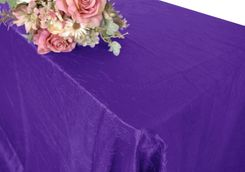 "90""x156"" Rectangle Crushed Taffeta Tablecloth - Regency 61863(1pc/pk)"