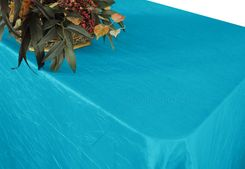 "90""x156"" Rectangle Crushed Taffeta Tablecloth - Turquoise 61885(1pc/pk)"