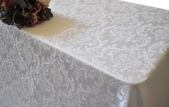 "90""x156"" Rectangle Damask Jacquard Polyester Tablecloths (14 colors)"