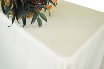 """90""""x156"""" Rectangle Polyester Tablecloth - Ivory 53002(1pc/pk)"""