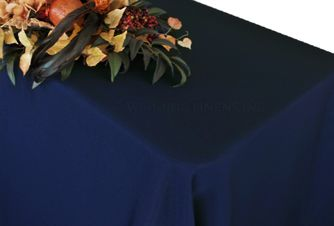 "90""x156"" Rectangle Polyester Tablecloth - Navy Blue 53023 (1pc/pk)"