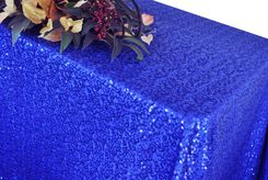 "90""x156"" Rectangle Seamless Sequin Tablecloths (19 Colors)"
