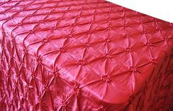"90""x156"" Rectangle Pinchwheel Taffeta Tablecloth - Apple Red 66808(1pc/pk)"