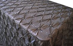 "90""x156"" Rectangle Pinchwheel Taffeta Tablecloth - Chocolate 66891(1pc/pk)"