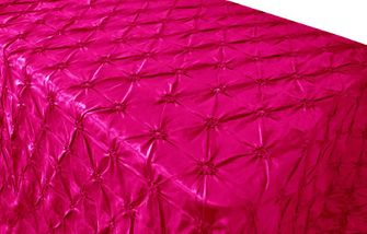 "90""x156"" Rectangle Pinchwheel Taffeta Tablecloth - Fuchsia 66809(1pc/pk)"
