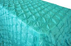 "90""x156"" Rectangle Pinchwheel Taffeta Tablecloth - Tiff Blue / Aqua Blue 66818(1pc/pk)"