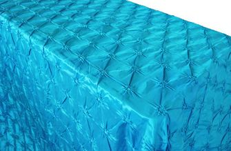 "90""x156"" Rectangle Pinchwheel Taffeta Tablecloth - Turquoise 66885(1pc/pk)"