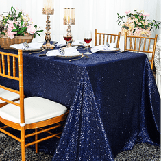 "90""x156"" Seamless Rectangular Sequin Taffeta Tablecloths (23 Colors)"