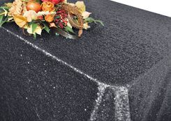 """90""""x156"""" Sequin Rectangle Tablecloth - Pewter 01660 (1pc/pk)"""