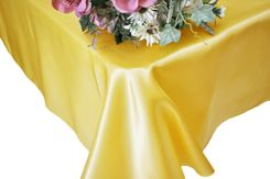 90x132 Rectangle Satin Banquet Tablecloth - Canary Yellow 55316(1pc/pk)