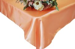 90x156 Rectangle Satin Banquet Tablecloth - Apricot / Peach 55731(1pc/pk)