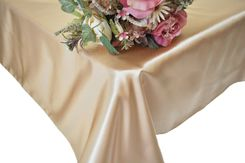 90x156 Rectangle Satin Banquet Tablecloth - Champagne 55728(1pc/pk)