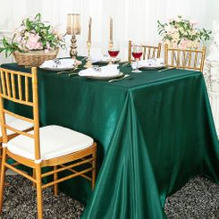 "90""x156"" Rectangular Satin Banquet Tablecloths (57 colors)"