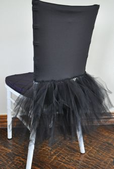 Ballerina Spandex Chiavari Chair Covers - Black (1pc/pk)