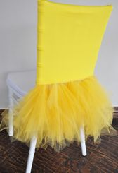 Ballerina Spandex Chiavari Chair Covers - Canary Yellow 62216 (1pc/pk)
