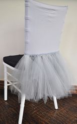 Ballerina Spandex Chiavari Chair Covers - Silver(1pc/pk)