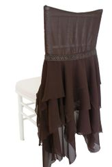 Chiffon Chiavari Chair Covers - Chocolate (1pc/pk)