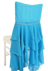Chiffon Chiavari Chair Covers - Turquoise (1pc/pk)