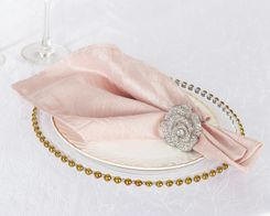"20""x 20"" Crushed Taffeta Table Napkins - Blush Pink 61315 (10pcs/pk)"