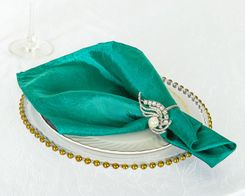 "20""x 20"" Crushed Taffeta Table Napkins - Jade 61326 (10pcs/pk)"