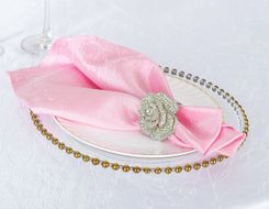 "20""x 20"" Crushed Taffeta Table Napkins - Pink 61305 (10pcs/pk)"