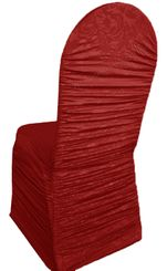 Embossed Rouge Spandex Chair Covers - Apple Red 62708(1pc/pk)
