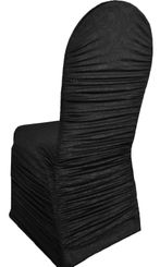 Embossed Rouge Spandex Chair Covers - Black 62739(1pc/pk)