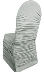 Embossed Rouge Spandex Chair Covers - Silver 62740(1pc/pk)