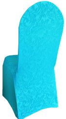 Embossed Vintage Spandex Banquet Chair Covers (18 colors)