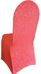Embossed Vintage Spandex Chair Covers - Coral 62606(1pc/pk)